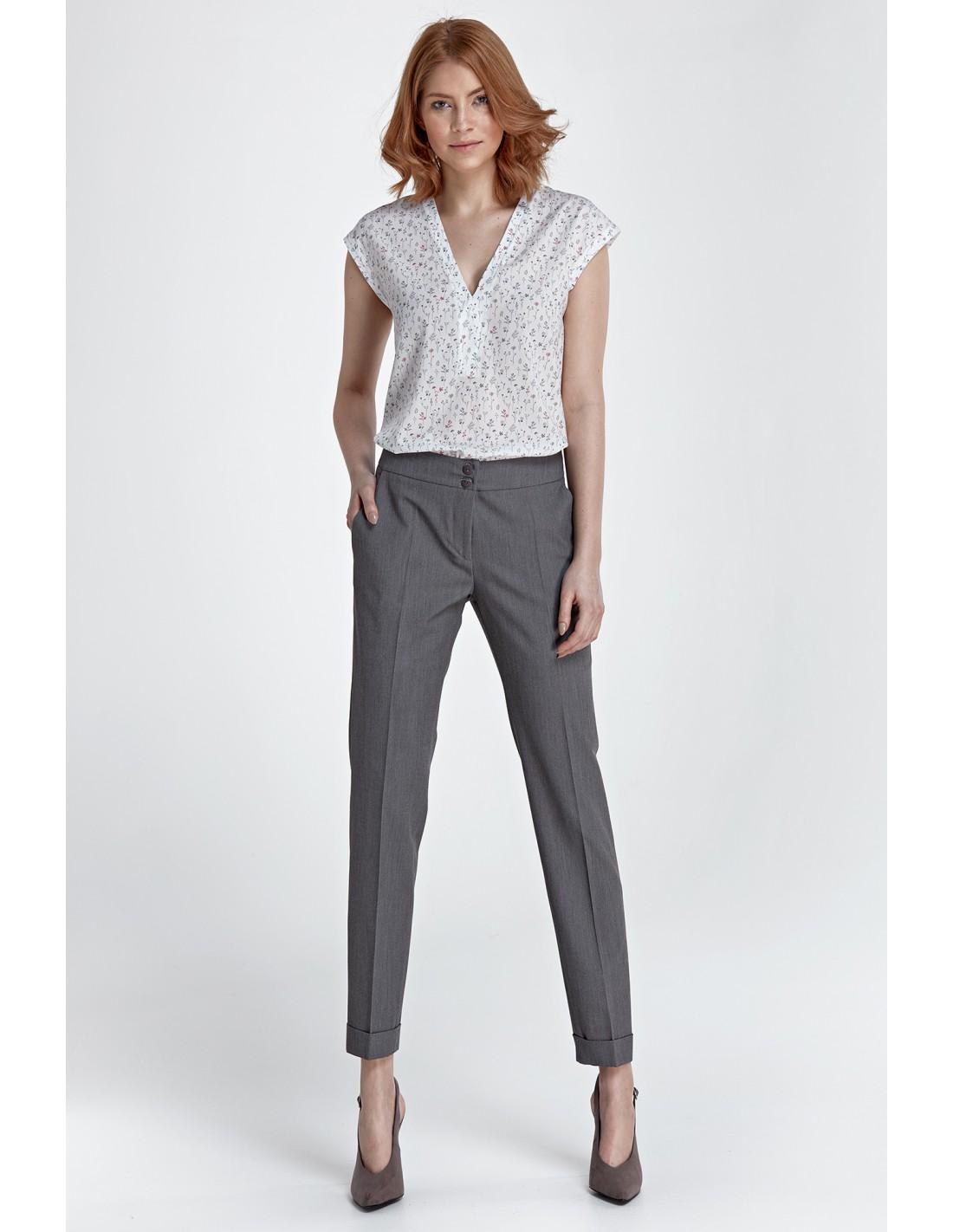 Spodnie z mankietami szare Rozmiar 36 (S)