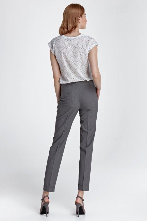 Spodnie z mankietami szare
