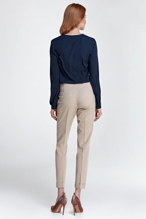 Spodnie z mankietami beżowe