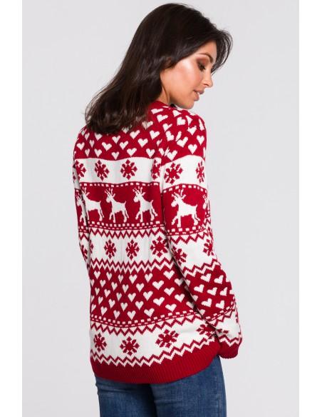 Sweter z motywem świątecznym - model 1