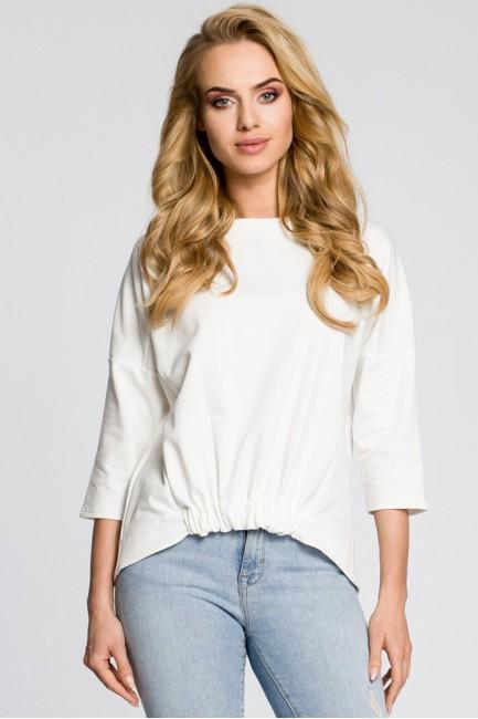 Luźna bluzka z rękawami typu nietoperz - ecru