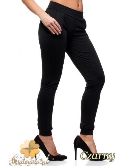 Elastyczne spodnie dresowe Paulo Connerti - czarne
