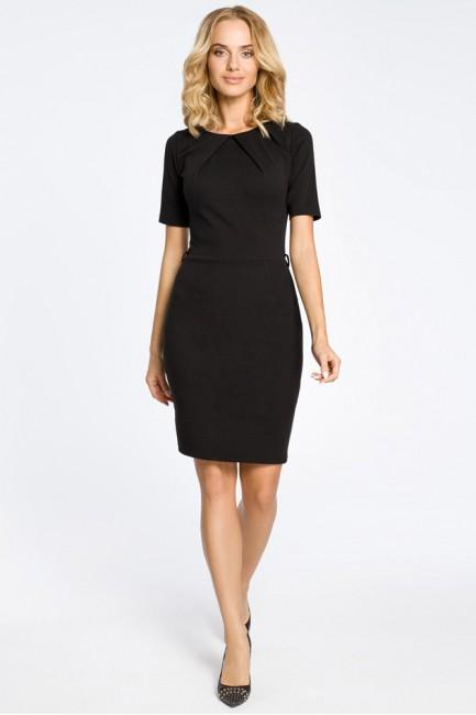 Klasyczna elegancka sukienka ołówkowa - czarna