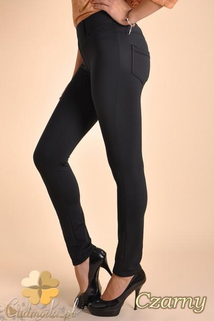 Włoskie ciepłe legginsy ocieplone polarem - czarne