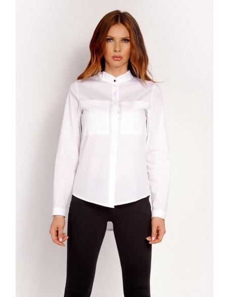 Elegancka koszula ze stójką - biała