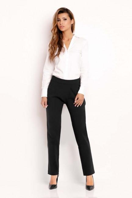 Eleganckie biurowe spodnie - czarne