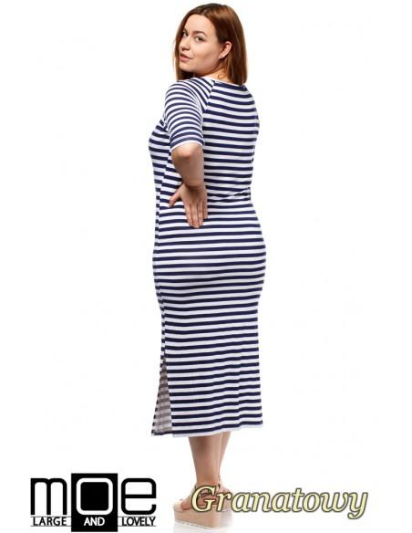 Elegancka sukienka maxi - granatowa