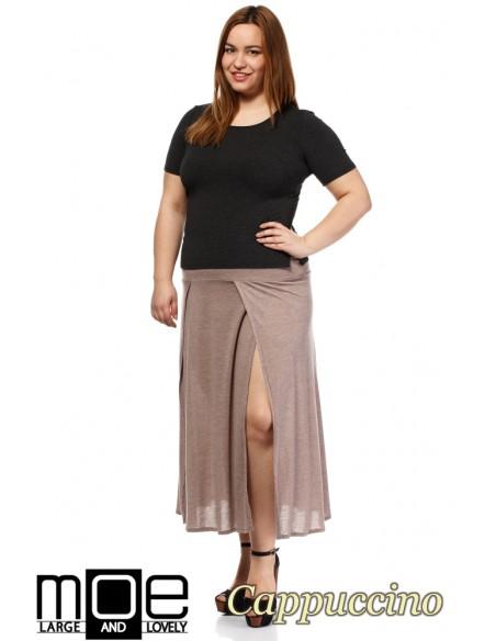 Spódnica maxi z klinów - cappuccino