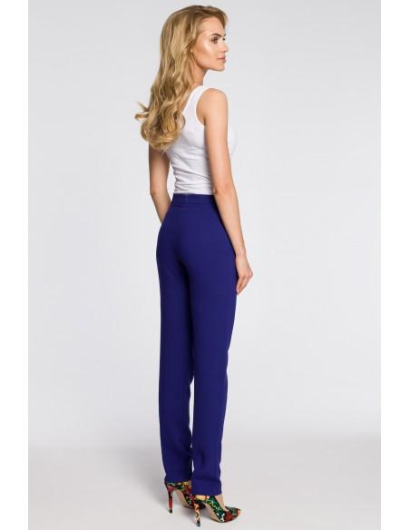 Modne spodnie damskie chinosy - chabrowe