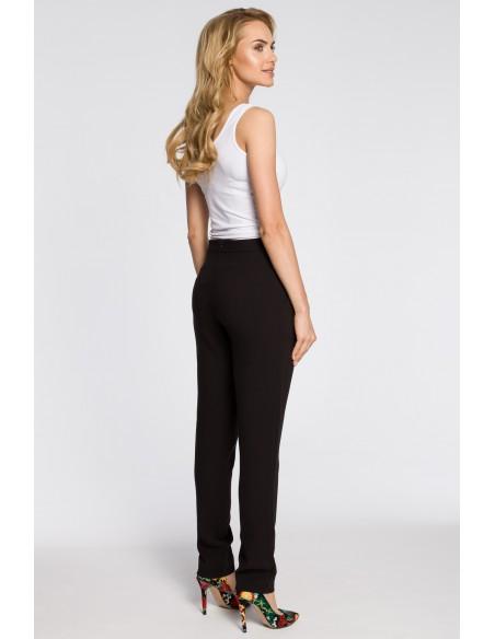 Modne spodnie damskie chinosy - czarne