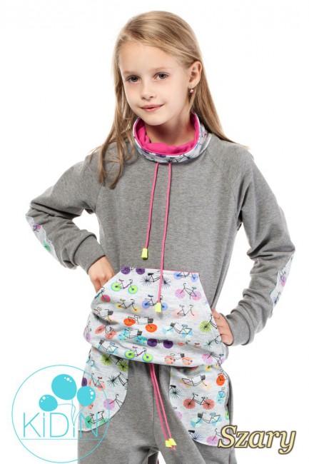 Dziecięca bluza z kominem - szara