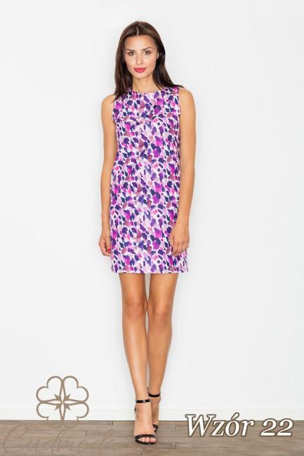 Dopasowana sukienka mini na ramiączkach - wzór 22