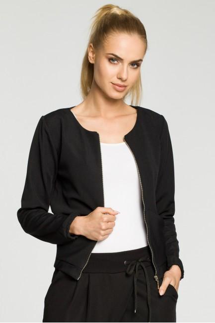 Elegancka zasuwana bluza damska - czarna