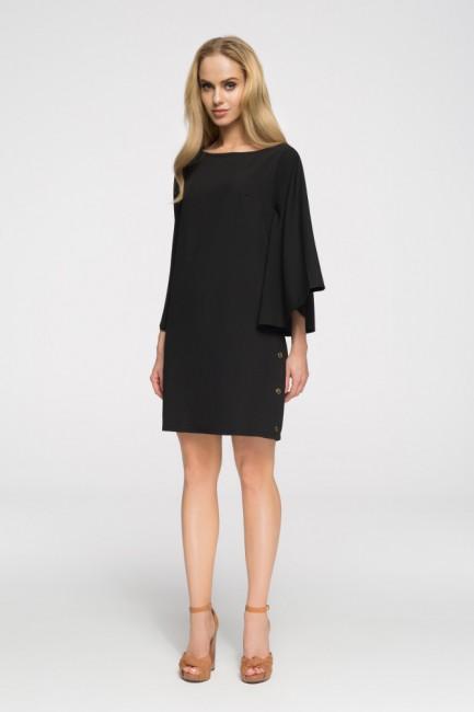 Sukienka nietoperz oversize - czarna