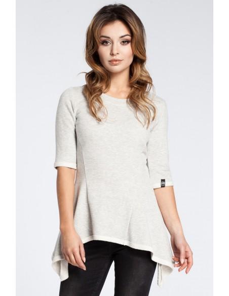 Kobieca bluzka baskinka - popielata