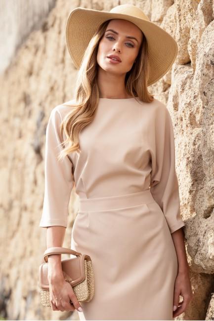 Odcinana sukienka w pasie z...