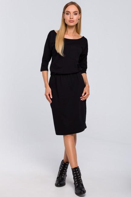 Sukienka z kieszenią - czarna