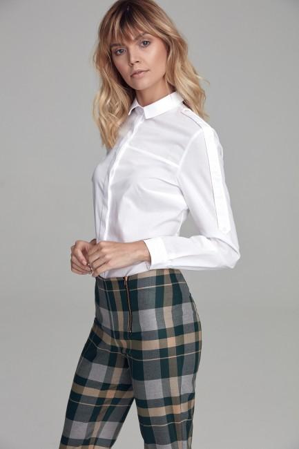Stylowa koszula z długim rękawem - biała