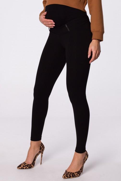 Eleganckie legginsy ciążowe z zamkami