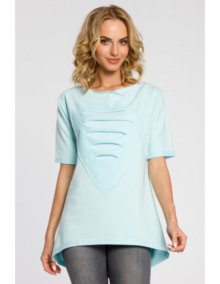Dresowa bluza tunika serce - miętowa
