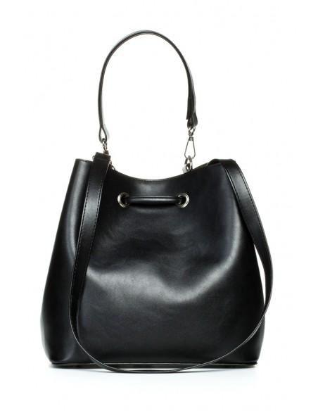 Biurowa torba na ramię i do ręki - czarna