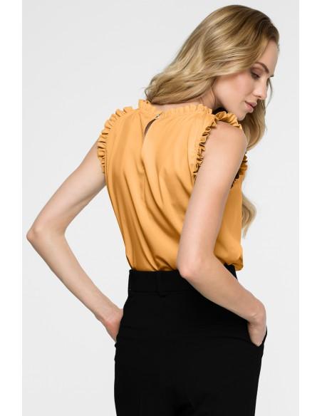 Bluzka z falbankami - żółta