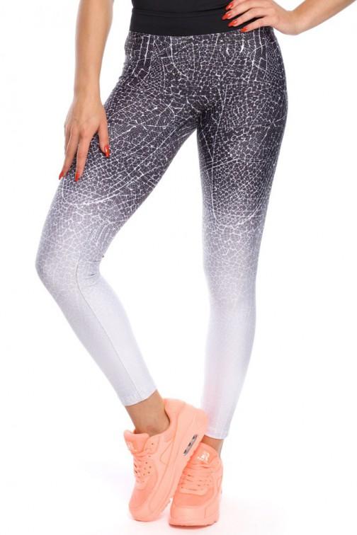 Gładkie elastyczne legginsy sportowe