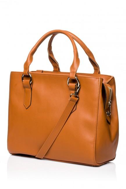 Biurowa torebka na ramię - ruda