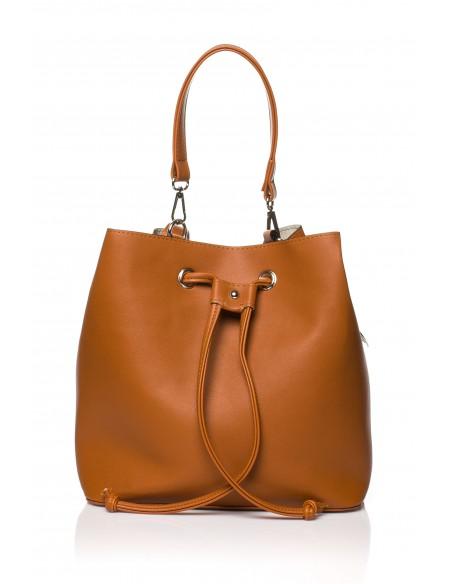 Biurowa torba na ramię i do ręki - ruda