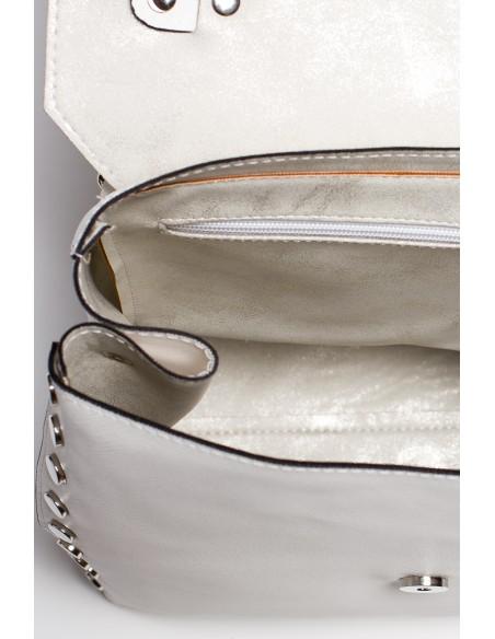 Mała elegancka torebka - ecru
