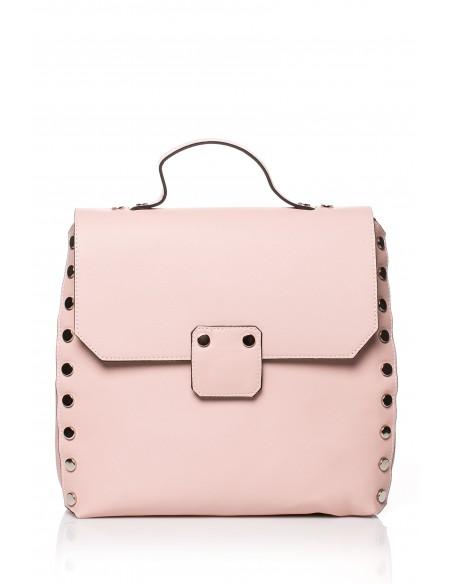 Mała elegancka torebka - pudrowa