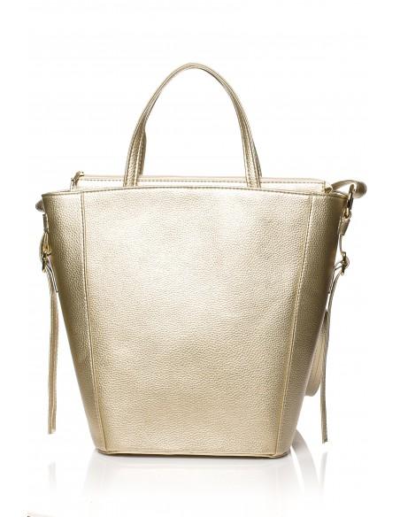 Klasyczna torebka na ramię - złota