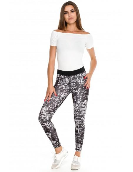 Elastyczne sportowe legginsy na fitness