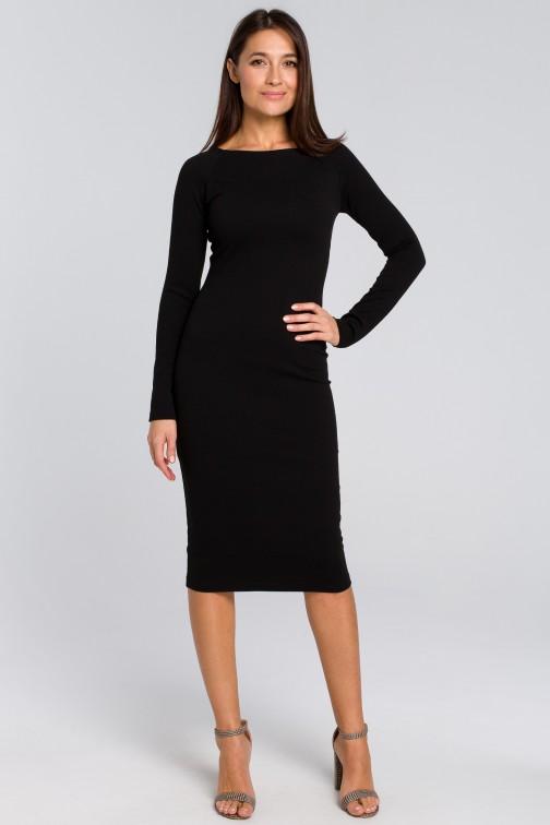 Dopasowana sukienka ołówkowa czarna