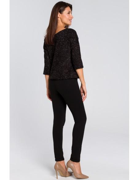 Proste spodnie typu rurki - czarne